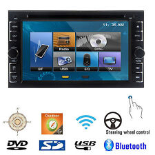 "6.2"" HD Double 2 DIN Car Stereo Radio DVD Player Bluetooth iPod MP3 TV SD USB IR"