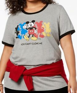 fcf603d2ab5 Disney Trendy Plus Size MICKEY MOUSE Thumbs Up Can t Clone Me Shirt ...