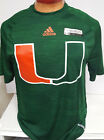 MIAMI HURRICANES MENS DRI FIT REFLECTIVE SLEEVE ADIDAS SHIRT NEW PICK SIZE