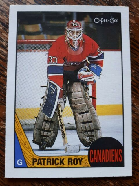 MONTREAL CANADIENS 1987-88 PATRICK ROY 2ND YEAR