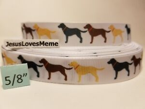 "Grosgrain Ribbon Dachshund Dogs Dog Breed Rescue Collars Adopt Furry Friend 5//8/"""