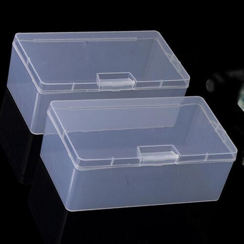 1pc Rectangular Plastic Transparent W// Lid Storage Box Collection Container Case