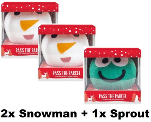 24 Prizes Christmas Pass the Parcel Brussels Sprout,Snowman Gift Family Game