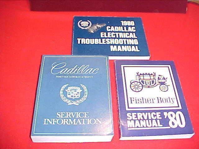 1980 CADILLAC FLEETWOOD DEVILLE ELDORADO SERVICE SHOP ...