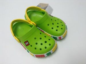 9a3fffc7f725 Image is loading Crocs-Crocband-LEGO-Kids-Clog-Volt-Green-Yellow-