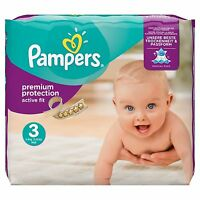 Pampers Premium Protection Active Fit Nappies Pack - Size 3 204