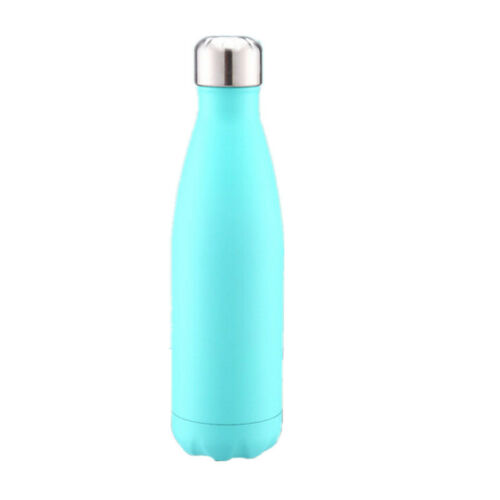 500ML Stainless Steel Water Bottle Vacuum Insulated Thermos Sports Gym Flask UK