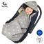 Einschlagdecke-fuer-Babyschale-Maxi-Cosi-Kinderwagen-Decke-Babydecke-Fusssack-grau Indexbild 1