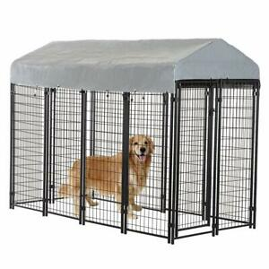 8-039-x4-039-x6-039-OutDoor-Heavy-Duty-Playpen-Dog-Kennel-w-Roof-Water-Resistant-Cover
