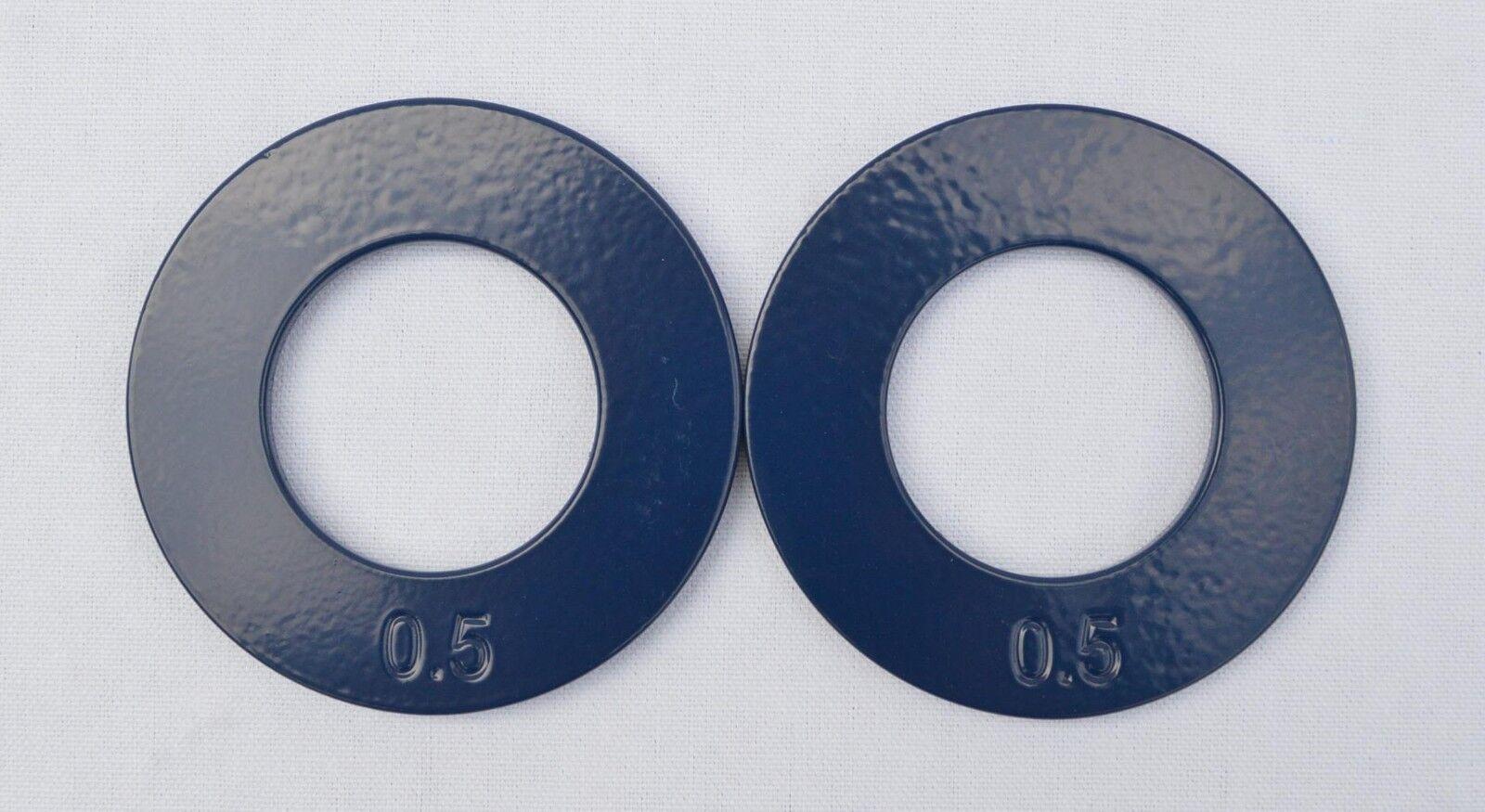 Quest 2  Olímpicos fraccional Placas-Juego De Dos 0.5 lb Placas
