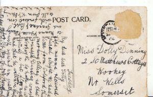 Genealogy-Postcard-Denning-Wookey-Near-Wells-Somerset-Ref-4379A