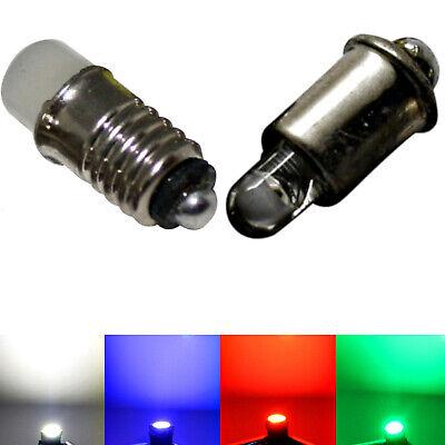 2 Stück Glühlampe mit Gewinde grün 6mm 19V Spur H0
