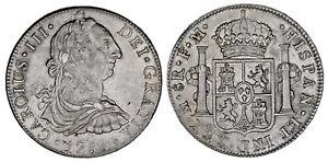 8-SILVER-REALES-PLATA-CHARLES-III-CARLOS-III-MEXICO-1788-XF-EBC-ATRACTIVA