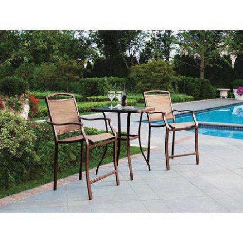 Charmant Mainstays Sand Dune 3 Piece High Outdoor Bistro Set, Seats 2  Patio  Furniture