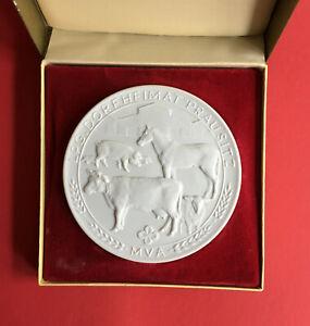 Systematisch Ddr Porzellan Medaille In Ovp Lpg Prausitz 1988 - Auflage 500 Stück ( M210