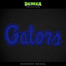 "Florida Gators_Gators Text - NCAA - Blue Vinyl Sticker Decal 5"""