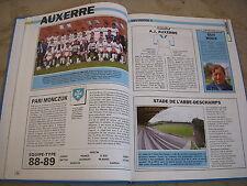 FOOTBALL COUPURE LIVRE PHOTO MRBT05 20x10 D1 AJ AUXERRE 1988/1989