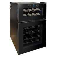Wine Cooler Chiller Fridge Under Counter Bottle Storage Fridges Dual Zone Husky