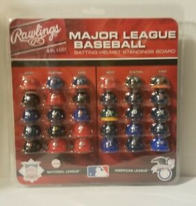 Details About New Rawlings Major League Baseball Batting Helmet Standings Board Mini Helmets