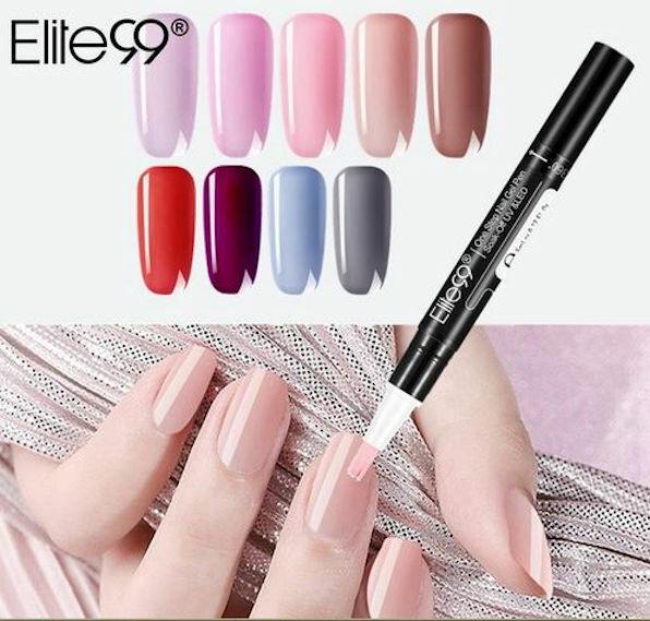 Elite99 One Step 3 in 1 Gel Nail Polish Pen Laquer Soak Off UV LED 5ml UK  SELLER
