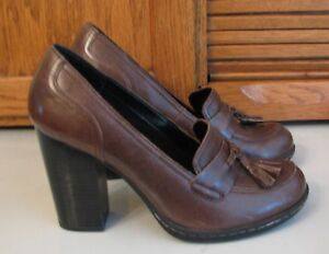 Born-SHOES-6-M-Concept-b-o-c-Brown-Leather-SHOES-Woman-039-s-Heels-Excellent