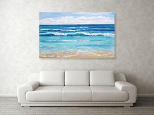 Sommer Meer Welle 5 cm Keilrahmen 150cmx100cm PopArt//Bild//Ferienwohnung//Landhaus