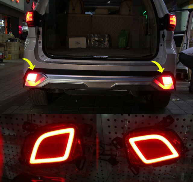 For Toyota Highlander 2017 2016 Led Rear Fog Light Tail Per Sets