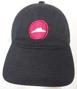 Pizza-Hut-Hat-Employee-Cap-Restaurant-Uniform-Apparel-Logo-Baseball-Black-Strap
