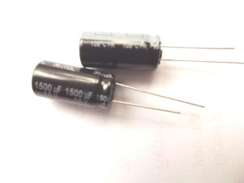 1500uf 16v 105c LOW ESR Size 20mmx10mm Panasonic  EEUFR1C152  x2pcs