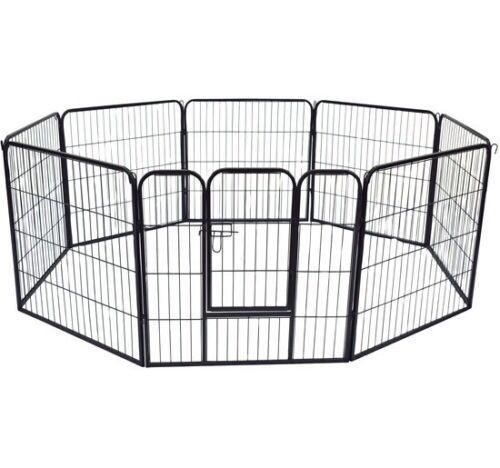 RECINTO in metallo per cuccioli, cani , gatti roditori 8 pannelli x 80 x H 80 cm