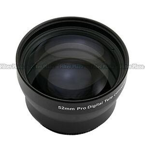52mm 2.0X Magnification Telephoto Tele Converter Lens for Digital Camera 2X 52