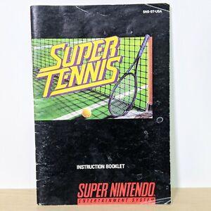 Super Tennis SNES Super Nintendo Instruction Booklet Manual