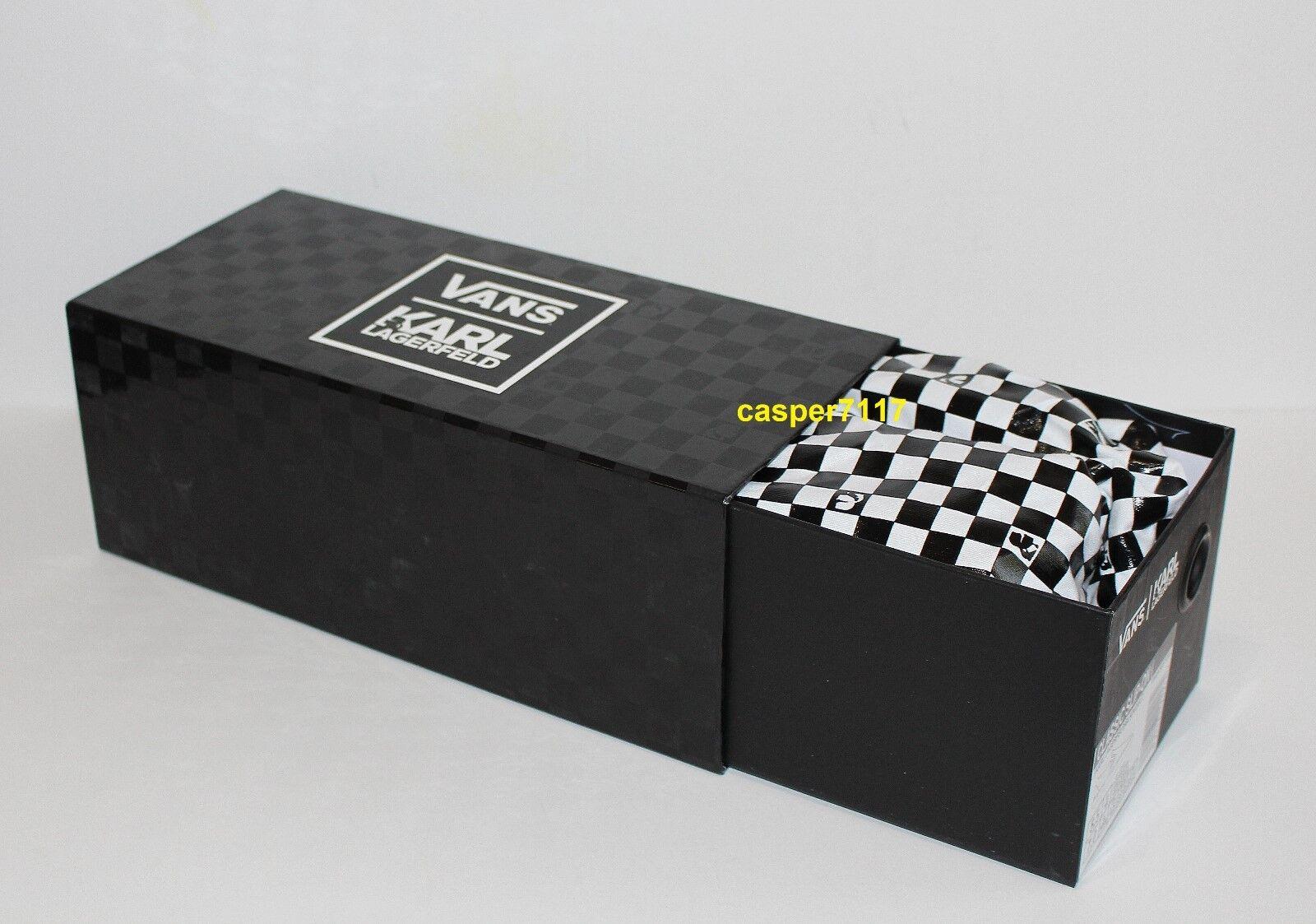 Vans X Karl Lagerfeld Classic Slip Slip Slip On Black K Quilt Women's Size  9.5 0c6a61