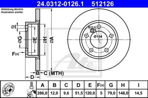 Garnitures de freins complet set avant bmw 3850611 2x Unités antithrombine Disques De Frein
