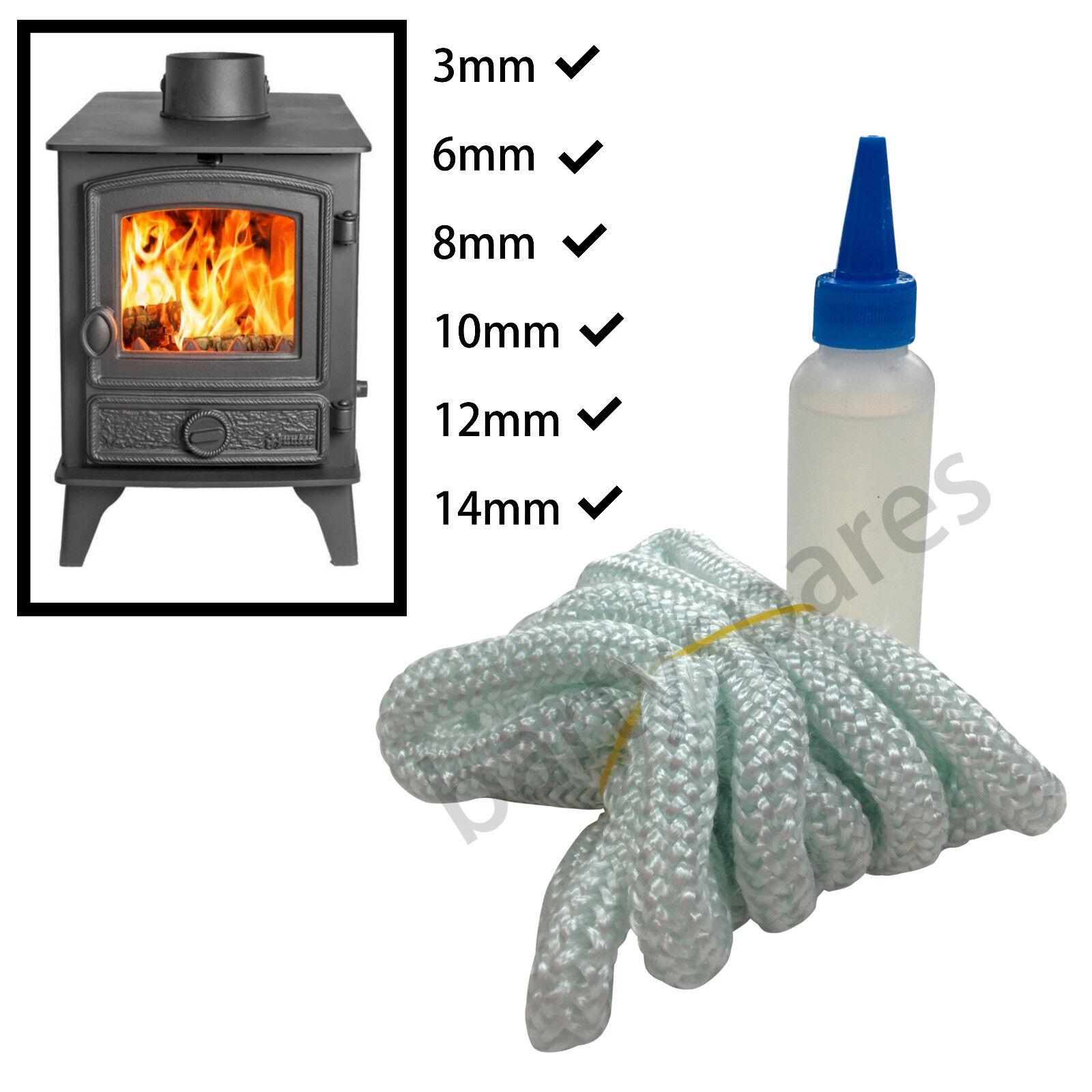 3m stove rope log wood burner door gasket seal glass fire for 14mm stove door rope