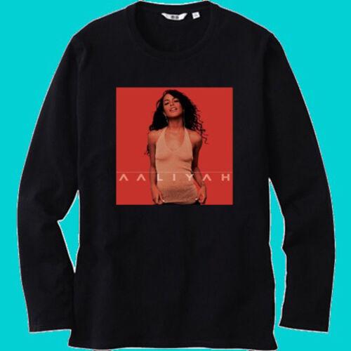 Aaliyah Aaliyah Famous Singer Album Men/'s Black Long Sleeve T-Shirt Size S-3XL