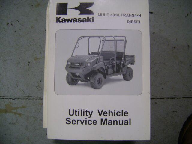 2009 Kawasaki Mule 4010 Kaf620 Trans 4x4 Factory Service