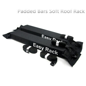 Image Is Loading Universal Padded Bars Soft Car Roof Rack Kayak