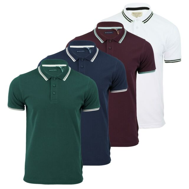 386c412f3 Mens Polo T Shirt Brave Soul Hero Pique Short Sleeve Tipped Collar Casual  Top