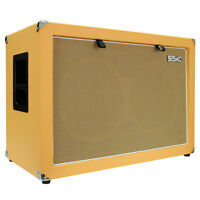 Seismic Audio 2x12 Guitar Speaker Cabinet 212 Empty Cab Orange Tolex on Sale