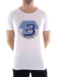 Brunotti-Camiseta-Nicki-Informal-Blanco-Cuello-Redondo-impresion-aldinini-FINOS