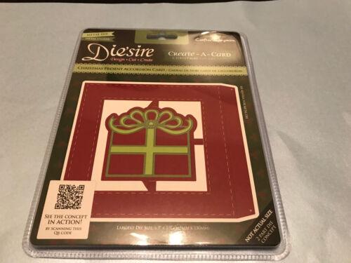 Die/'sire crear una tarjeta regalo de Navidad acordeón Tarjeta De Corte /& Grabado en Relieve muere