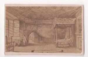 Vintage-CDV-Queen-Mary-039-s-Bedroom-Holyrood-Palace-Edinburgh-dated-1877
