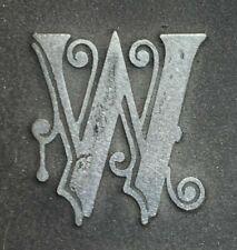 Letter W Ornate Letter Letterpress Print Plate