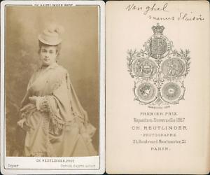 Reutlinger-Paris-Celine-Anna-Vanghel-actrice-Vintage-CDV-albumen-carte-de-vis