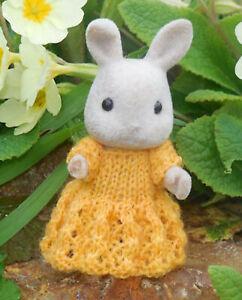 MAGYAR-Knitting-Pattern-Sylvanian-Families-Dress-CalicoCritters-2mm-lace-yarn
