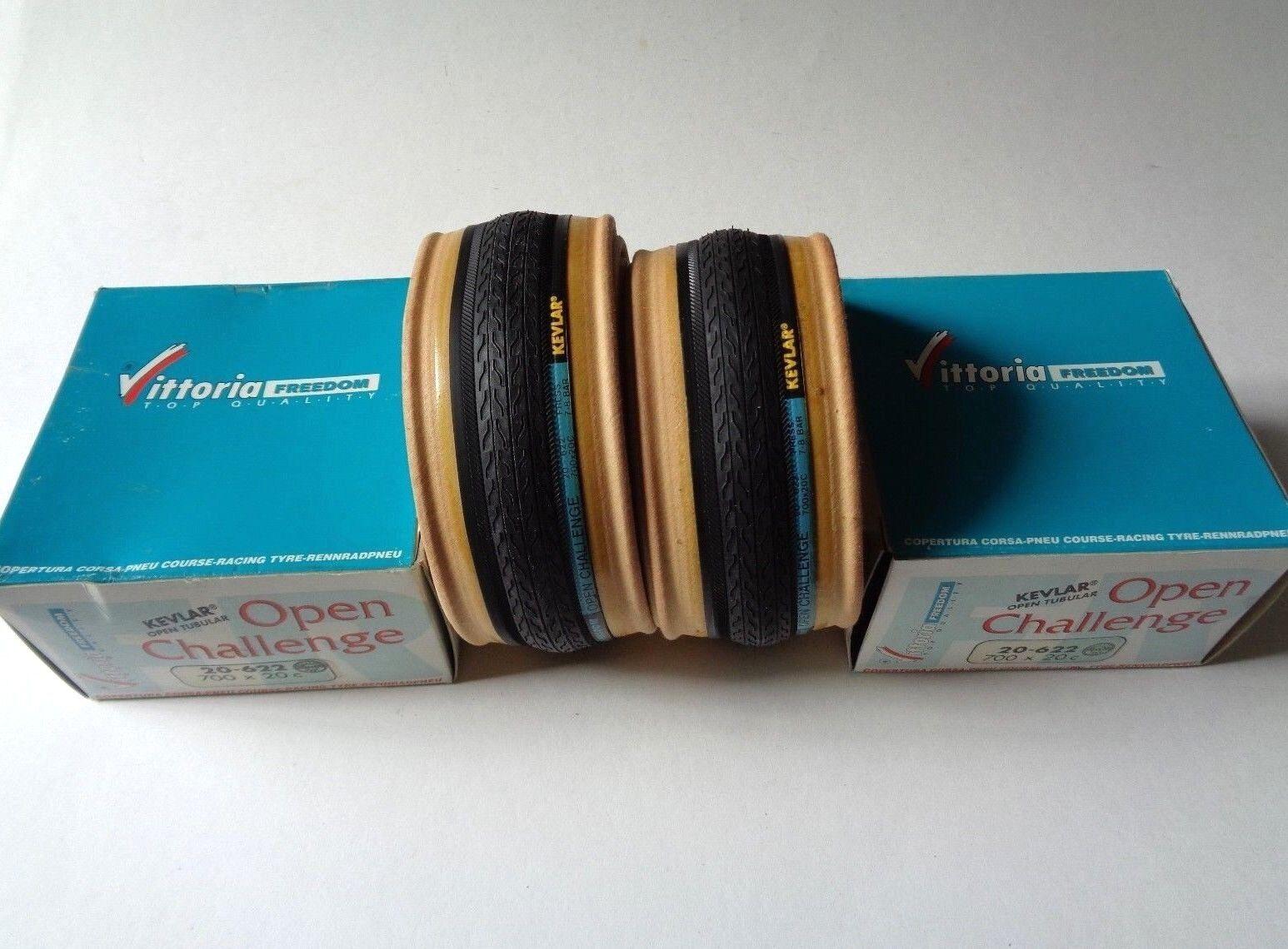 NOS Vintage VITTORIA SL FREEDOM 'OPEN CHALLANGE' 700 x 20C clincher tyres