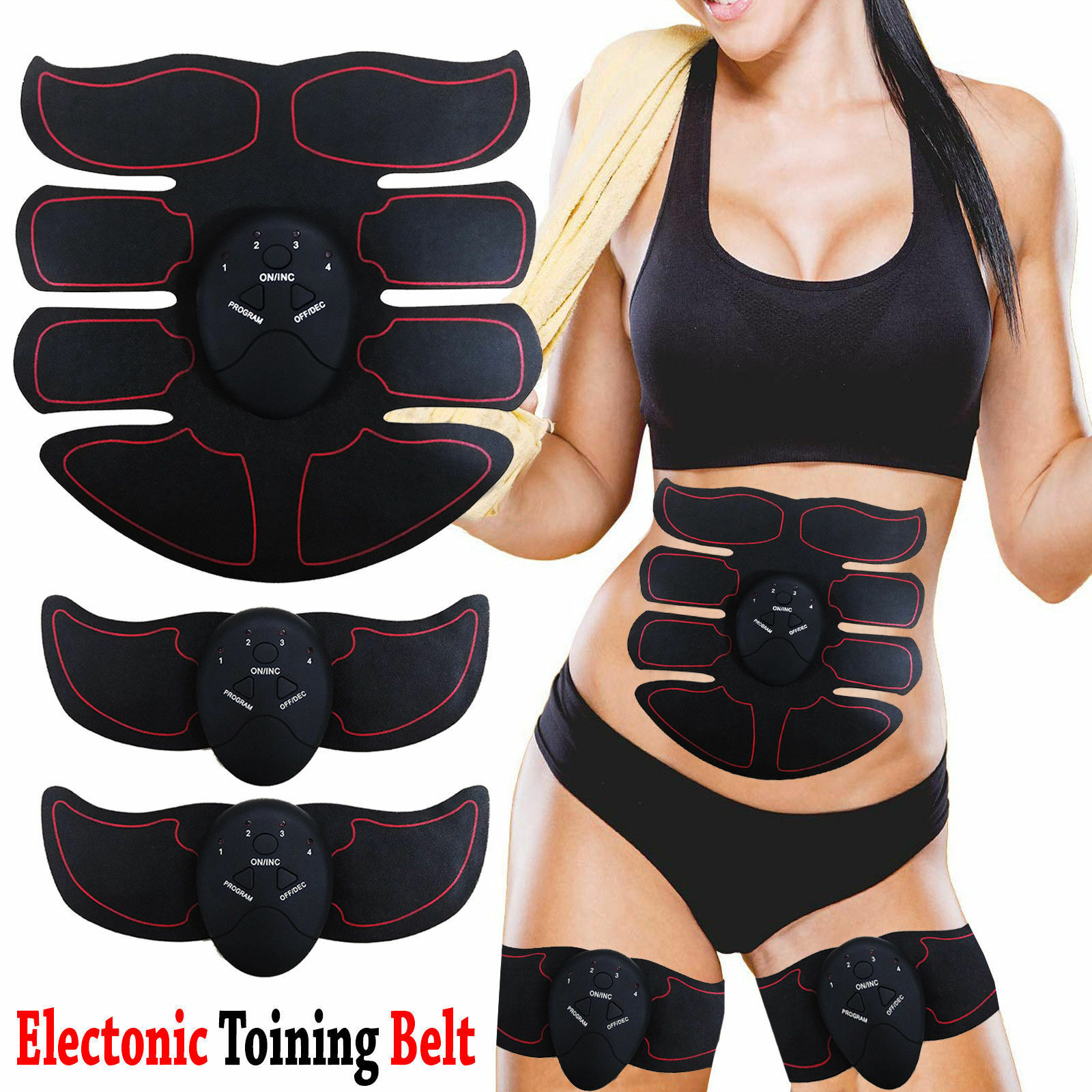 Ultimate ABS Toner slim stimulateur Abdominal Muscle Trainer Toner ABS Ceinture Tondeuse 61d09e