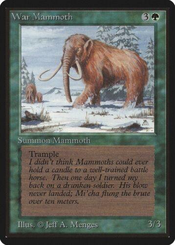 War Mammoth Beta HEAVILY PLD Green Common MAGIC THE GATHERING MTG CARD ABUGames