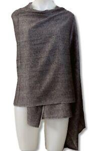 100/% Black Cashmere Shawl Pashmina Scarf Wrap Stole Women Wool Soft Winter Nepal